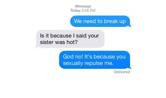 Top 10 Worst Breakup Texts of All Time