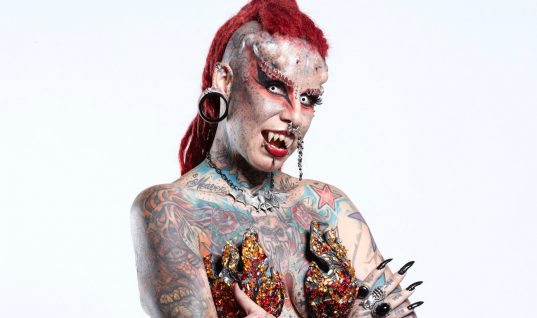 Mexican 'Vampire Lady' Has Whopping 49 Body Modifications