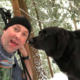 Couple Couldn't Understand Why A Strange Dog Is Following Them On Hike, But Then They See Something Is Written For Them On His Collar