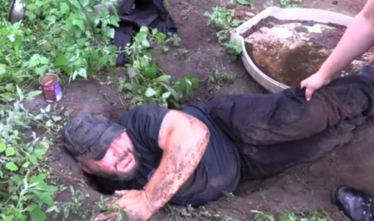 Men Hear Puppy Crying From Underground, Completely Baffled With What Comes Out When They Start Digging